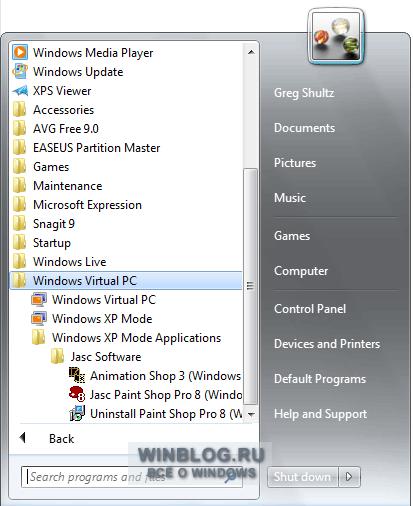 Советы по эффективному использованию Режима Windows XP