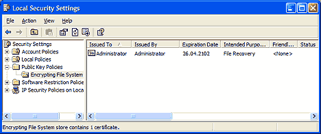 W2k/WinXP Encrypting. Шифрование в WIndows XP.