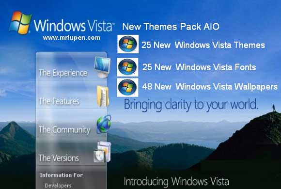 All-In-One Windows Vista New Themes Pack.