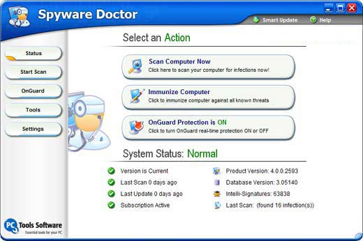 Spyware Doctor 4.0.0.2593