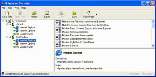 IE Internet Security 7.1