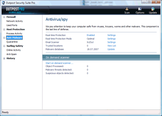 Agnitum Outpost Security Suite Pro 2008 6.0.2154.203.398.263