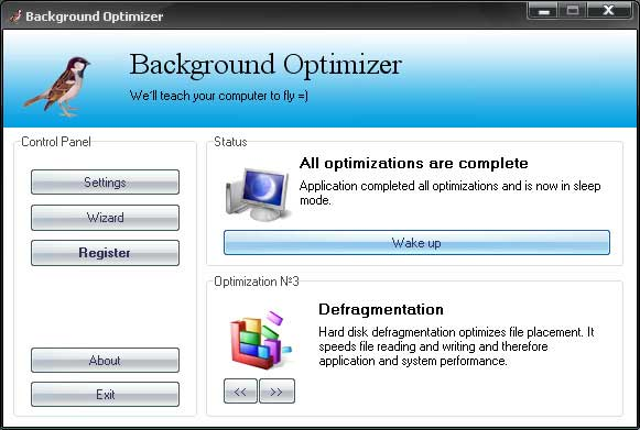 Background Optimizer 1.25 - Оптимизация компьютера