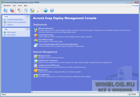 Acronis Snap Deploy 3 for PCs: обзор