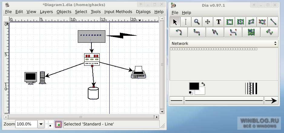для составления схемы сети