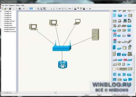составления схемы сети на.