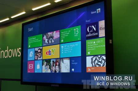 CES2012: видео и фото с демонстрации Windows 8