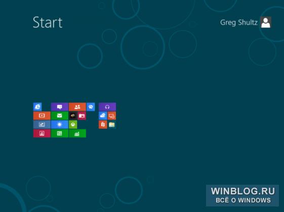 Навигация в Windows 8 при помощи мыши