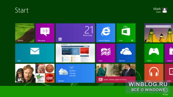 ��� �������� ������ �� ��������� ����� Windows 8