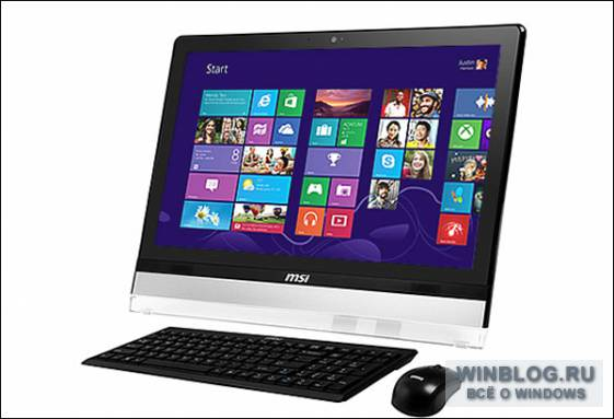 MSI представила моноблок Wind Top AE2212 с ОС Windows 8 на борту
