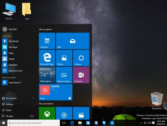 Windows 10: ������ ������ 10151