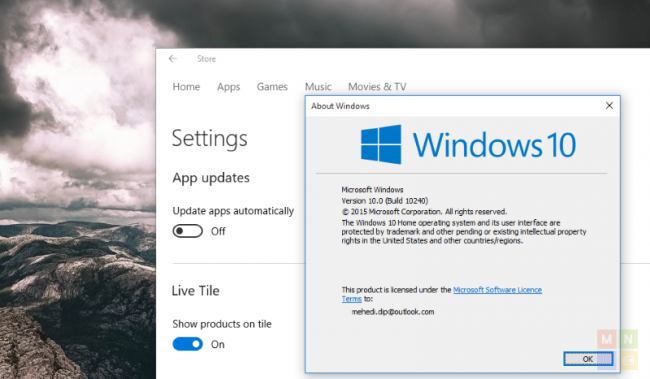 Windows 10 �������� �������� ���������� ����������