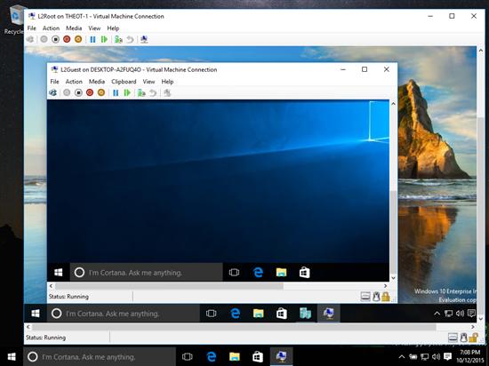 """Windows 10 позволяет создать """"матрешку"""" из виртуальных машин"""