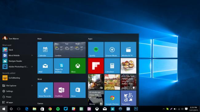 Плитки Windows 10 готовят два сюрприза