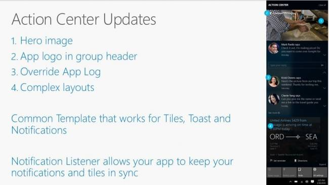 Центр уведомлений Windows 10 синхронизируют с Android