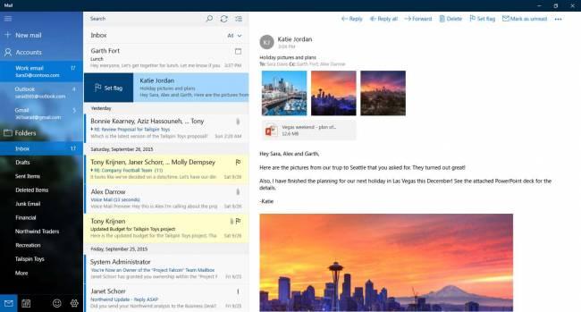 Outlook в Windows 10 Insider Preview сделали удобнее